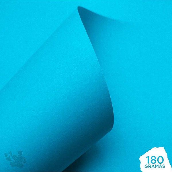 Papel Color Pop - Mimo - Azul Água - 180g - 30,5x30,5cm