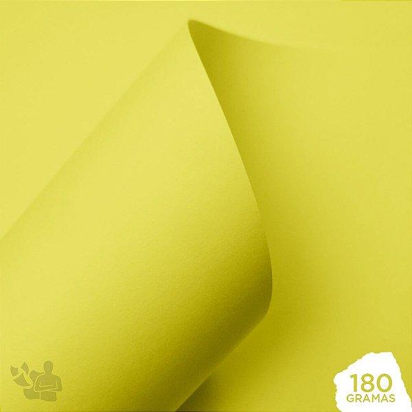 Papel Color Pop - Mimo - Amarelo Canarinho - 180g - 30,5x30,5cm
