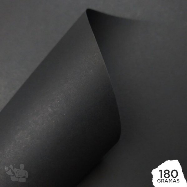 Papel Color Pop - Mimo - Preto Absoluto - 180g - 30,5x30,5cm