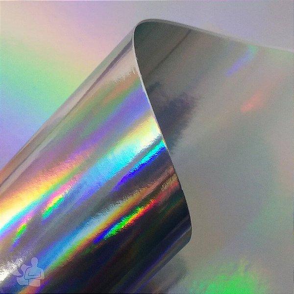 Papel Laminado - Lamicote - Holográfico - Arco Íris - 250g - A4 - 210x297mm