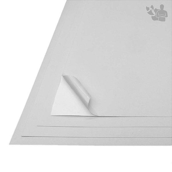 Papel Adesivo Branco Fosco - Texturizado - A3 - 297x420mm