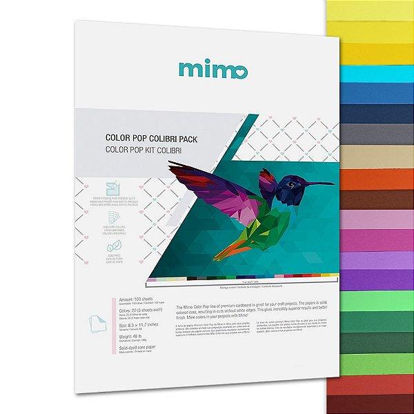 Papel Color Pop - Mimo - Kit Colibri - 180g - A4 - 210x297mm
