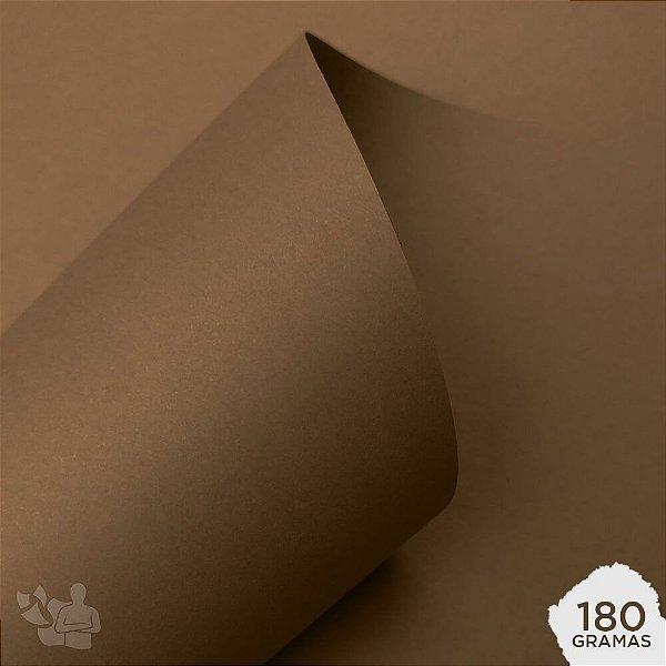 Papel Color Plus - Havana - Marrom - 180g - A4 - 210x297mm