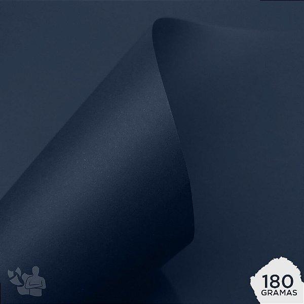 Papel Color Plus - Porto Seguro - Azul Marinho - 180g - A4 - 210x297mm
