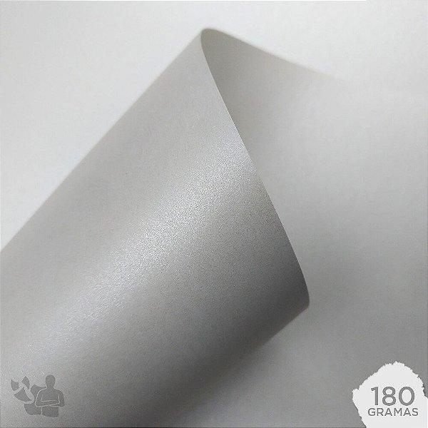 Papel Color Plus - Metálico - Aspen - Branco - 180g - A4 - 210x297mm