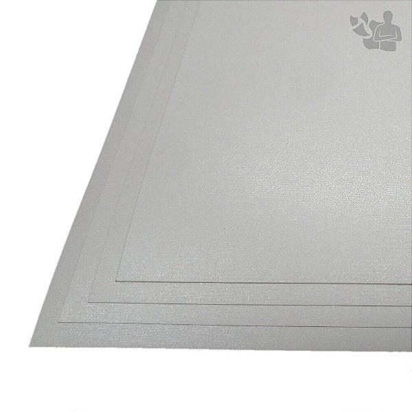 Papel Color Plus - Metálico - Aspen - Branco - 180g - A3 - 297x420mm