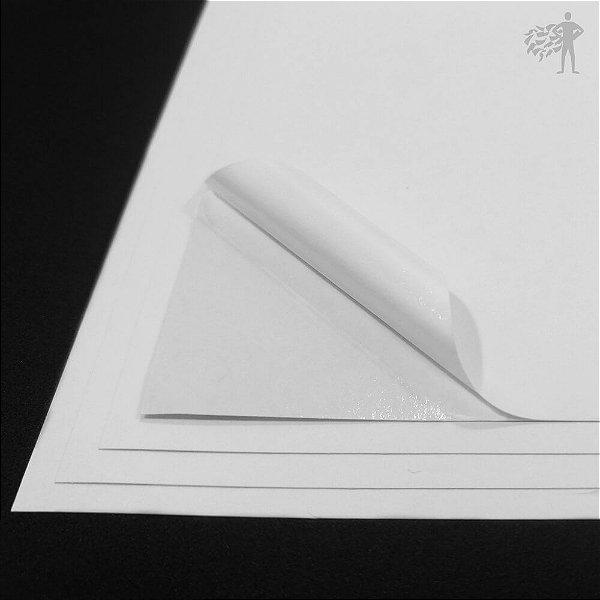 Papel Adesivo Branco Fosco - A3 - 297x420mm
