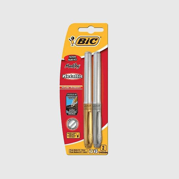 BIC Marking - Metallic - Prata e Dourada