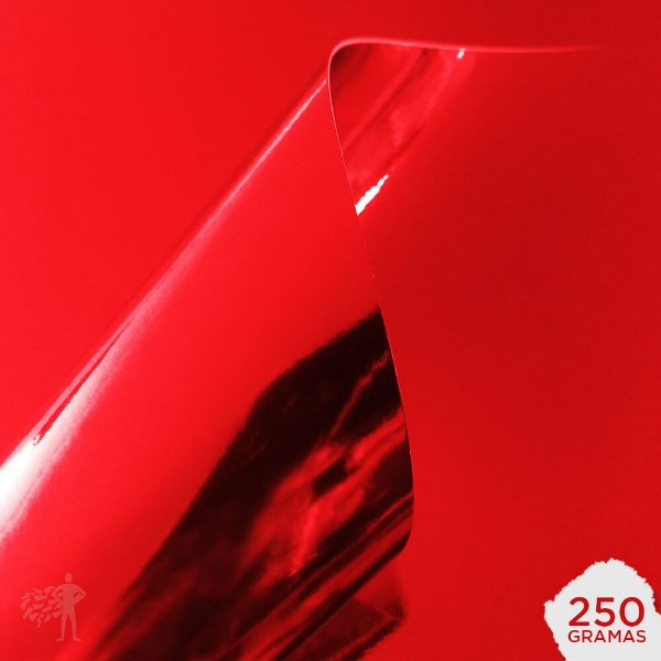 Papel Laminado - Lamicote - Vermelho - 250g - A4 - 210x297mm