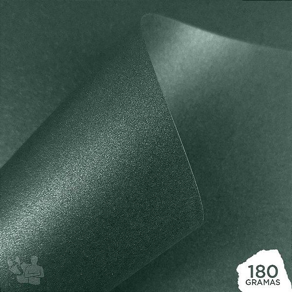 Papel Perolizado - Esmeralda - 180g - A4 - 210x297mm