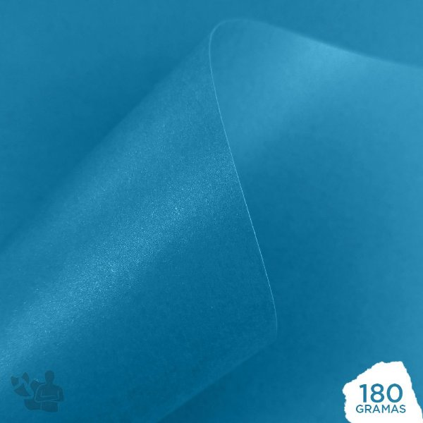 Papel Perolizado - Azul Royal - 180g - A4 - 210x297mm