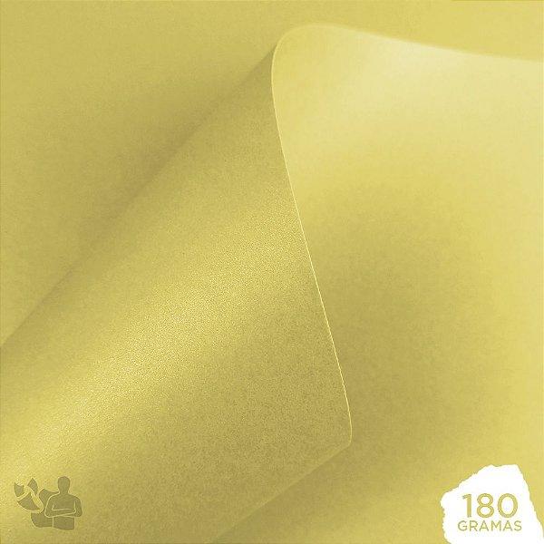 Papel Perolizado - Bege - Antique - 180g - A4 - 210x297mm
