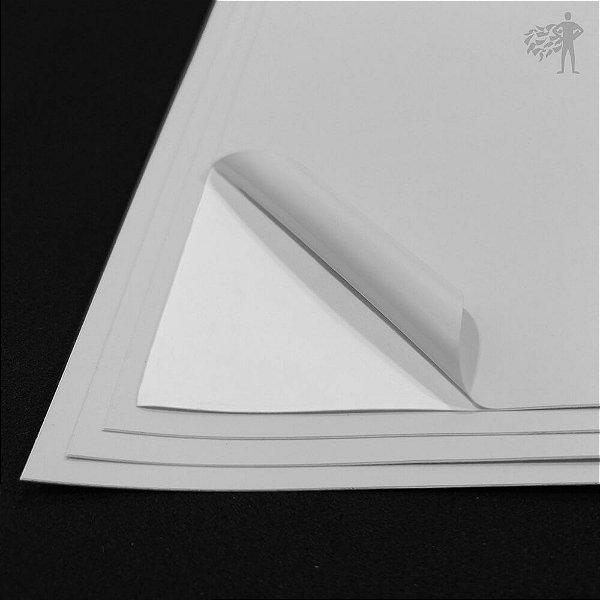 Vinil Adesivo Branco Fosco - Laser - Tradicional - A4 - 210x297mm