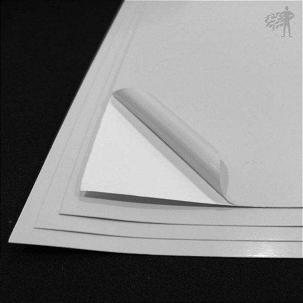 Vinil Adesivo Branco Brilho - Laser - Tradicional - A4 - 210x297mm