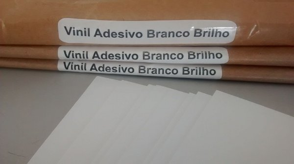 Vinil Adesivo Branco Brilho - Laser - Tradicional - A3 - 297x420 mm