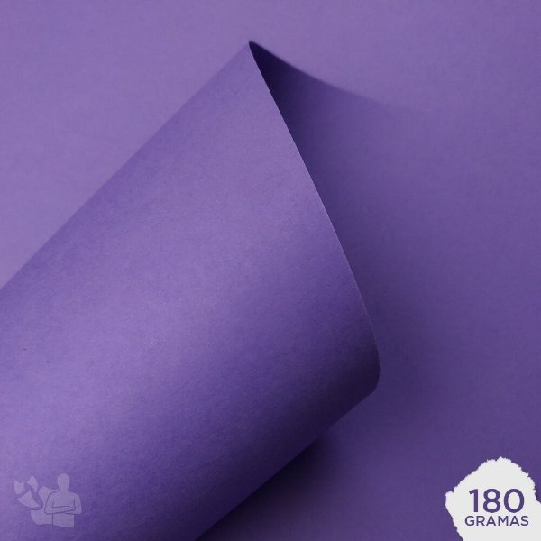Papel Color Plus - Amsterdam - Roxo - 180g - A4 - 210x297mm