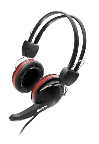 Fone De Ouvido Com Microfone Premium Gamer Crab Preto Vermelho Ps2 - Multilaser