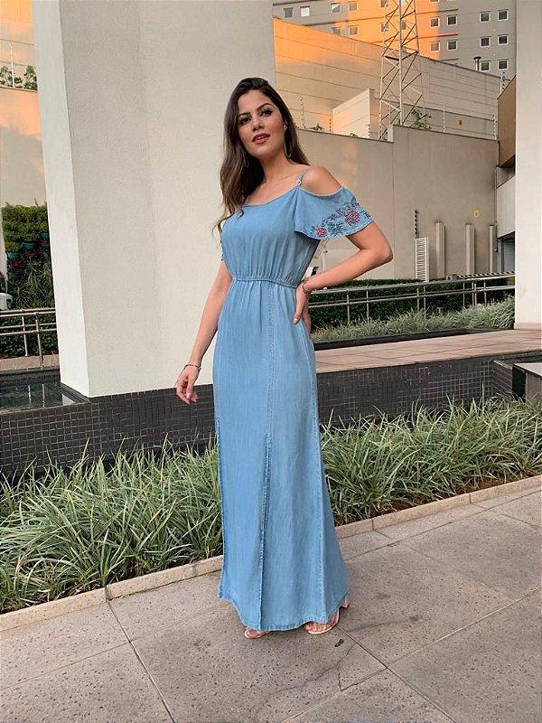 Vestido Longo Jeans Ludmila