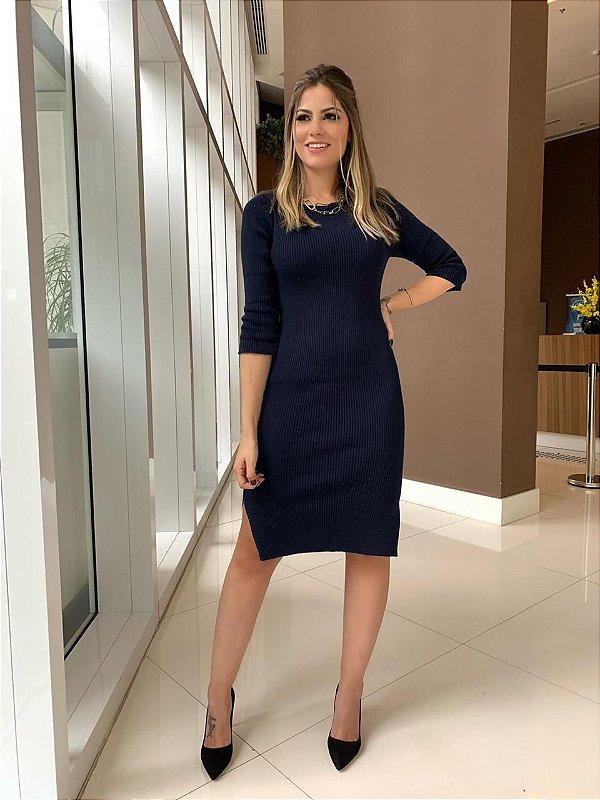 Vestido Tricô Helen_Marinho