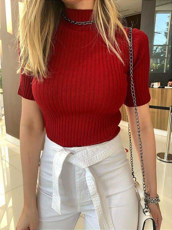 Blusa de Tricô Ana Red