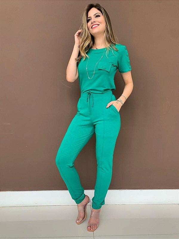 Conjunto Moletinho Silvia - Verde