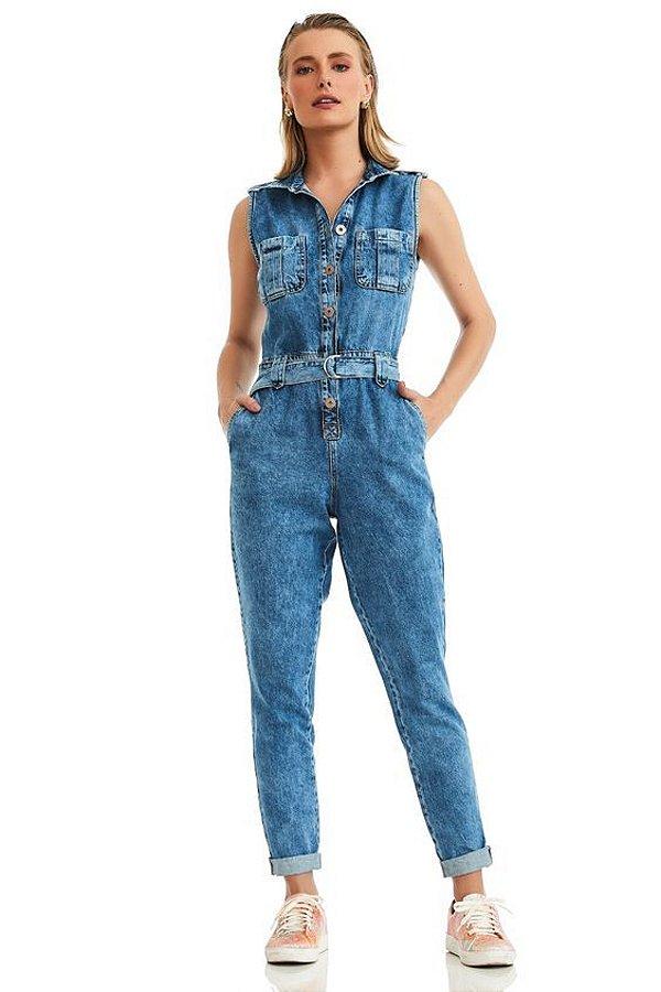 Macacão Jeans Ravena