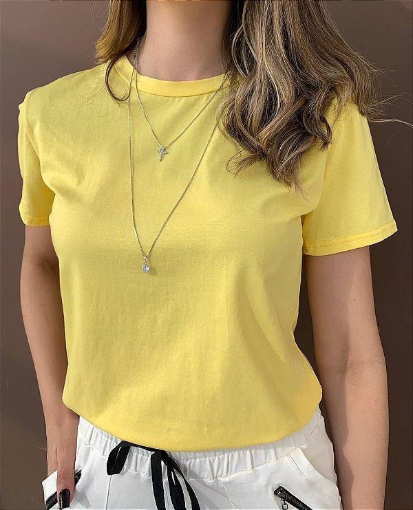 T-shirt Essential G. Redonda - Amarela