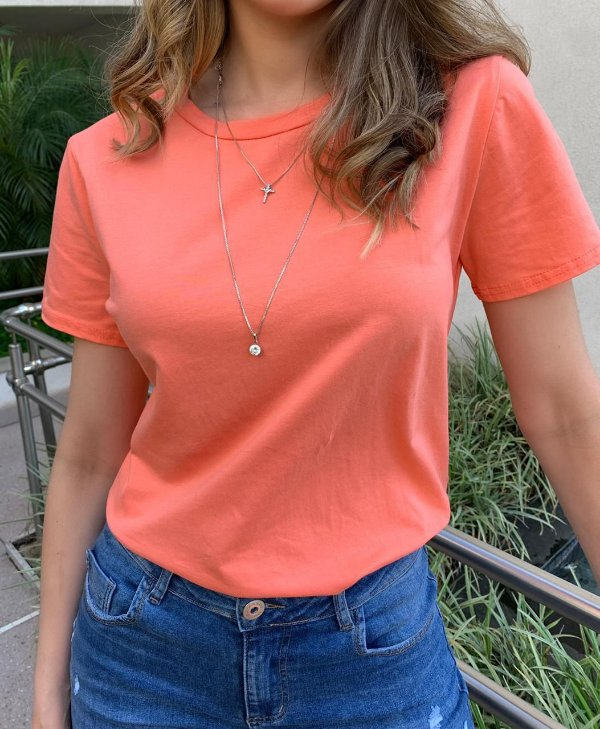 T-shirt Essential G. Redonda - Coral