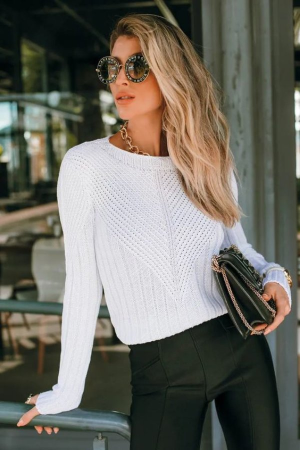 Blusa Tricô Catarina Branca