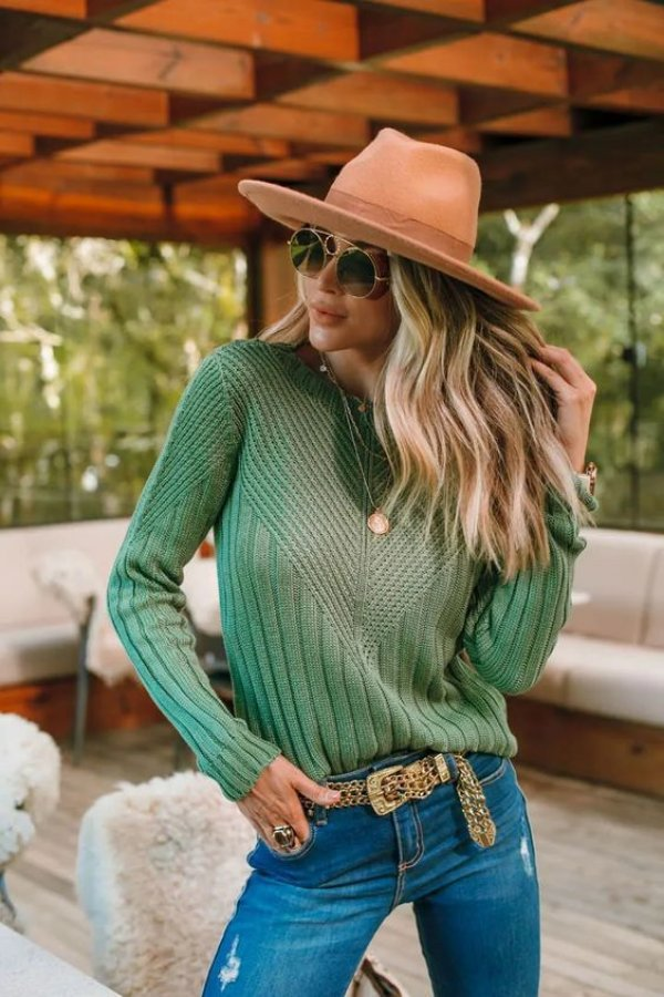 Blusa Tricô Catarina Verde