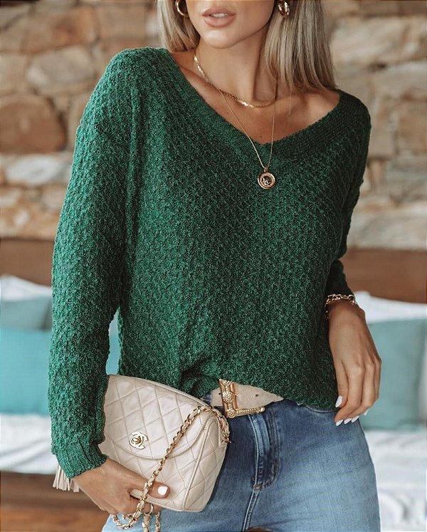 Blusa Tricô Samara Verde