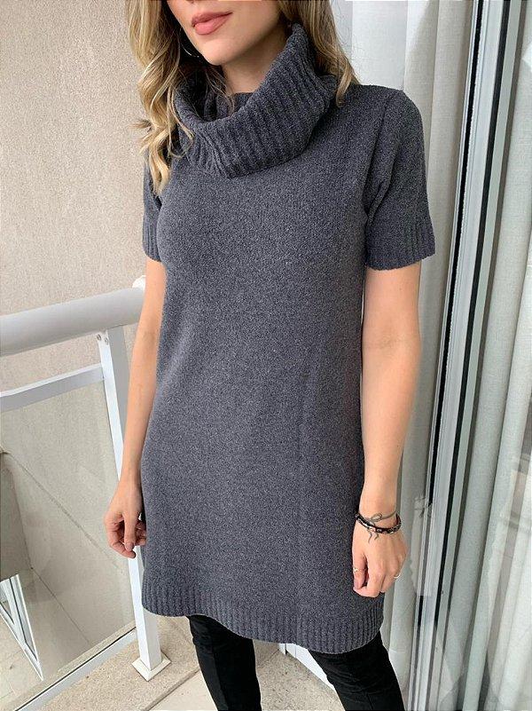 Vestido Tricot Color Mara Cinza