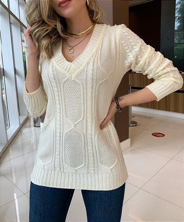 Blusa Tricô Melinda Off-White