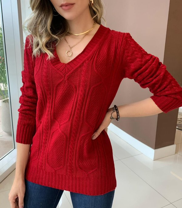 Blusa Tricô Melinda Vermelha