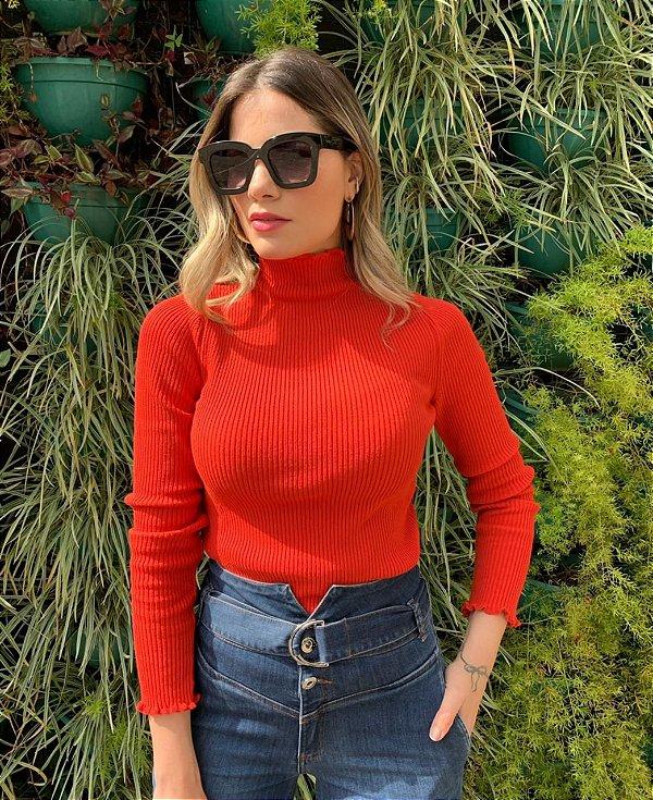 Blusa de Tricô Brenda vermelha