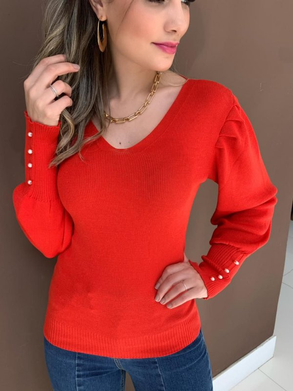 Blusa Tricô Nívea Vermelha