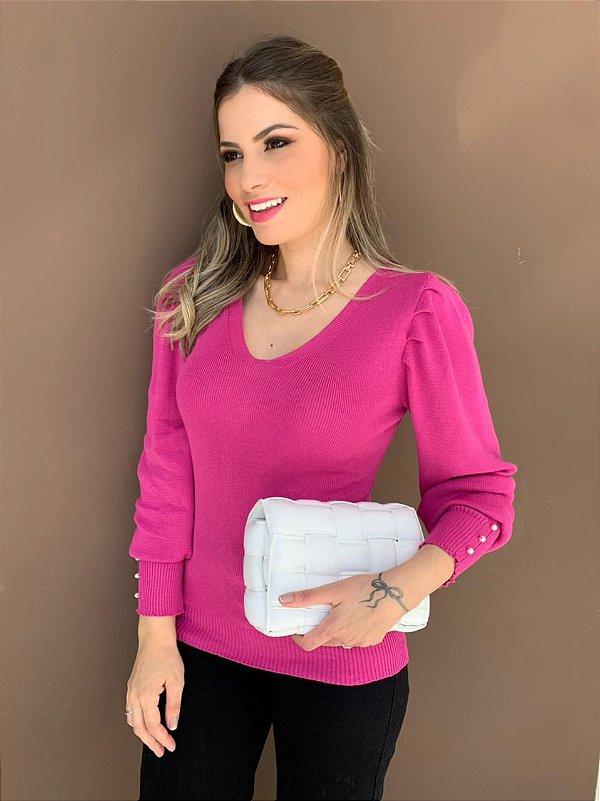 Blusa Tricô Nívea Pink
