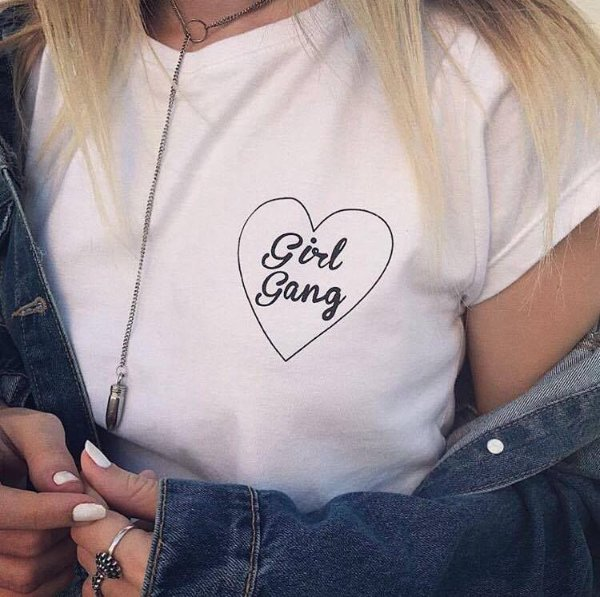 T shirt Girl gang