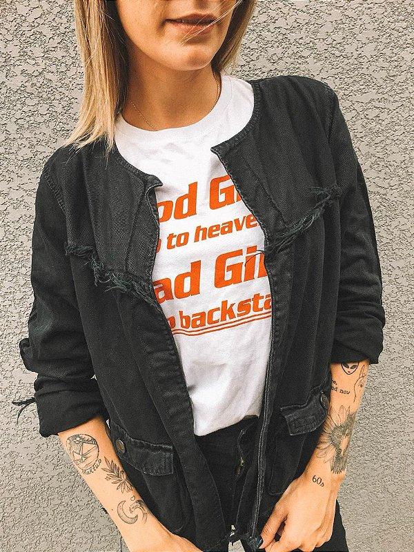 Jaqueta Jeans Preta Lady Rock