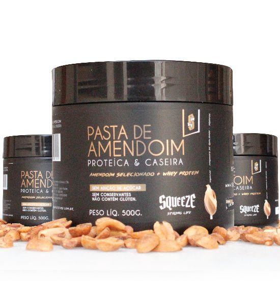 COMPRE 2 LEVE 3 - Pasta de Amendoim Proteica Caseira - 500g. (9g de proteína por colher)