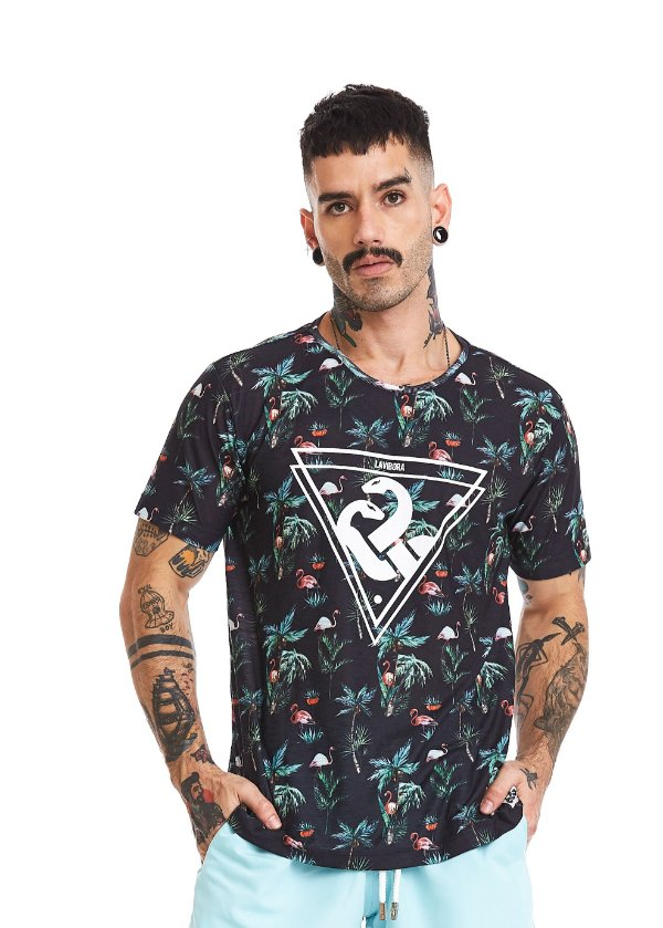 Camiseta Estampada - Flamingoz