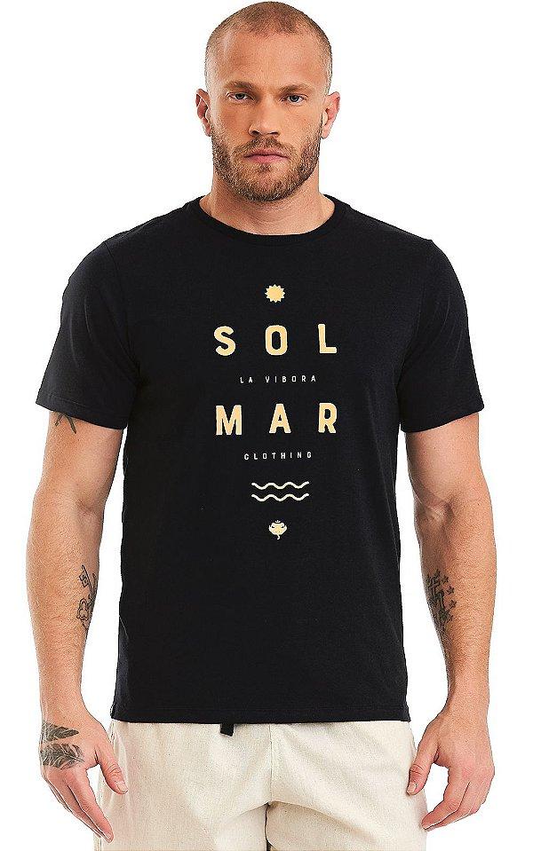Camiseta Masculina Malha Algodão Estampada - Sol & Mar