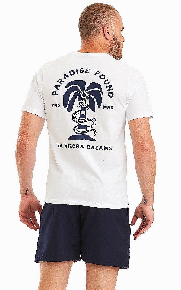 Camiseta Masculina Malha Algodão Estampada - Paradise Found