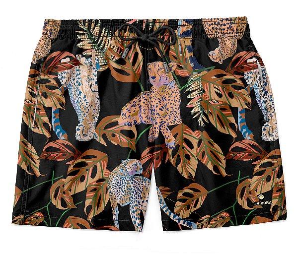 Shorts Praia Masculino Estampado LaVíbora - Cheetah