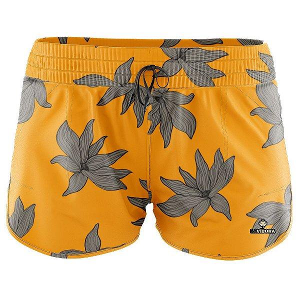 Shorts Praia Feminino Estampado LaVíbora - Yellow