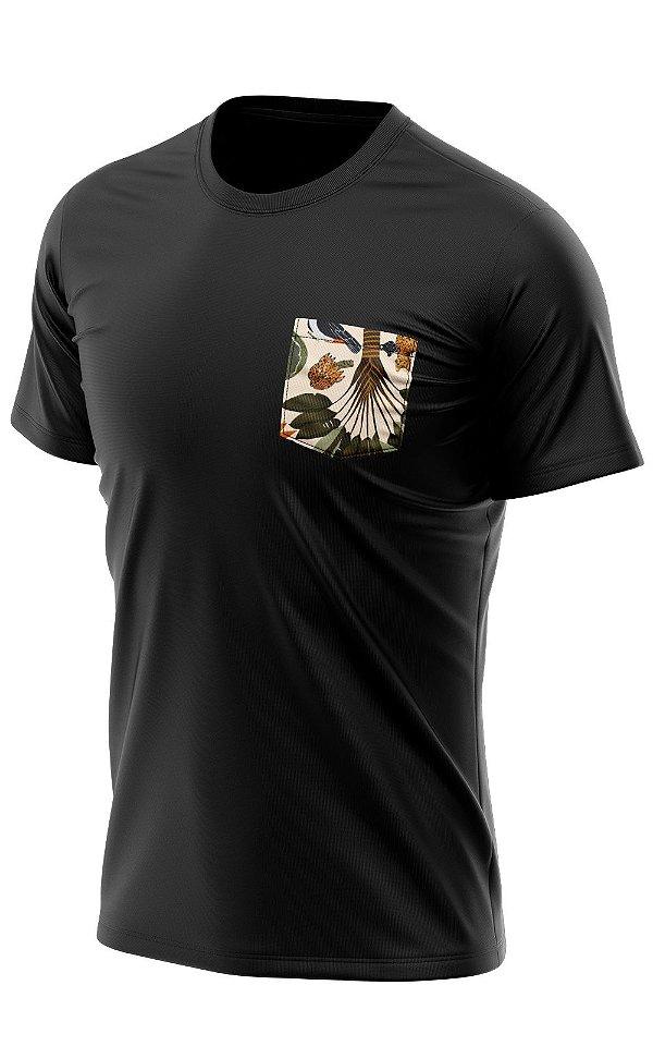Camiseta Bolso Estampado Bengal