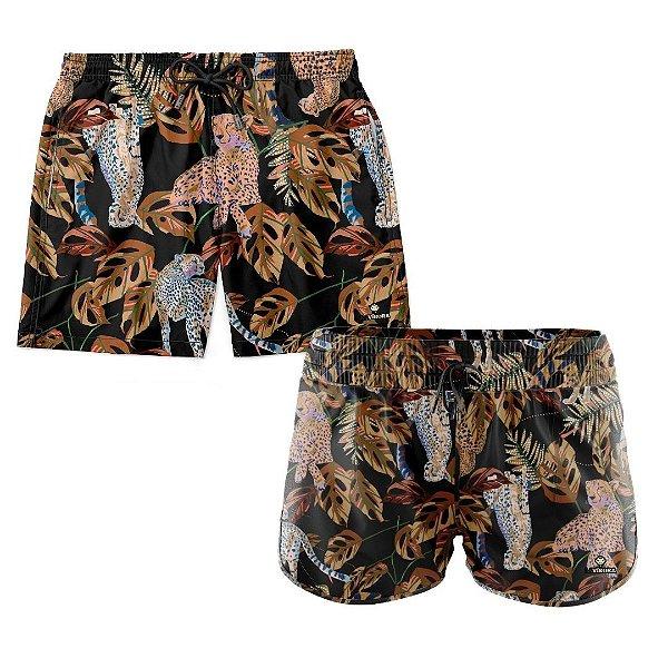 Shorts de Casal Praia Estampados LaVibora - Cheetah