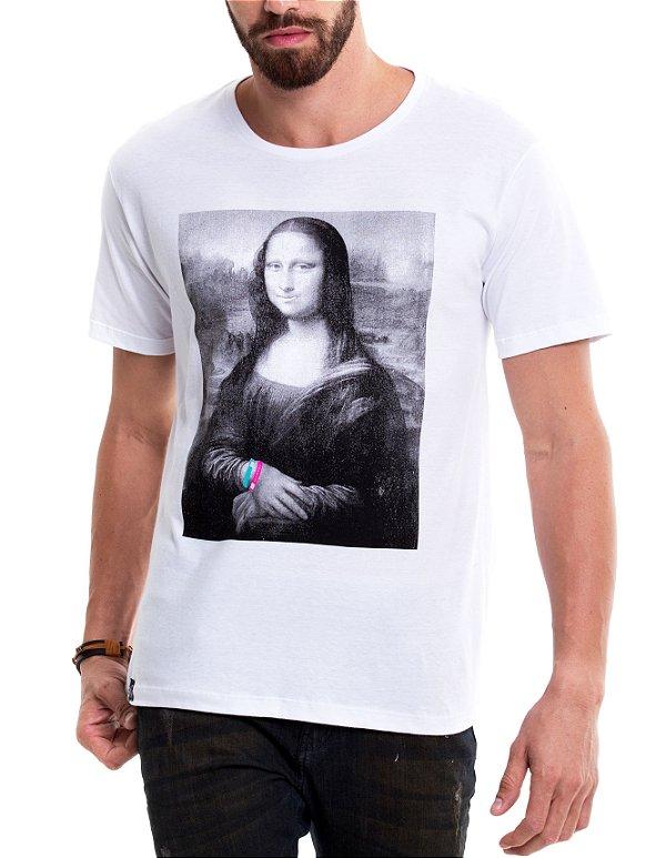 Camiseta de algodão - Monalisa Openbar