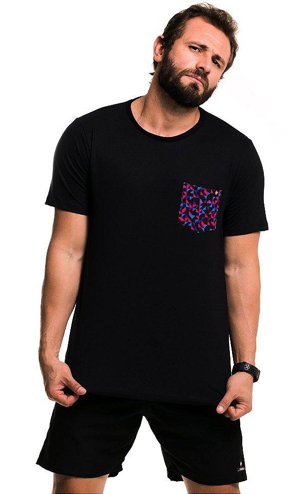 Camiseta Bolso Estampado - Geometric