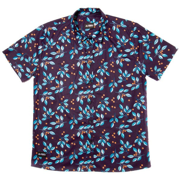 Camisa Estampada Tricoline - Blueberry